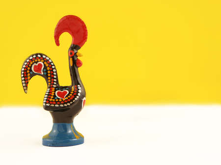 Legendary, folklore colorful rooster associated with Portugal