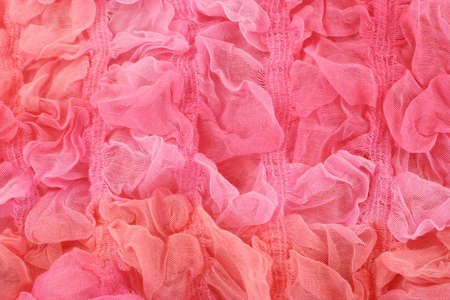 material: pink textile sheer knitted material for background Stock Photo