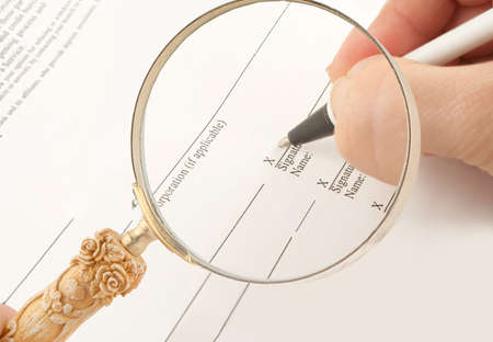 signing business banking statements for corporation or company with loop photo