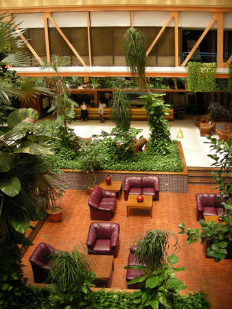 lounge area in lobby of Caribbean resort hotel photo