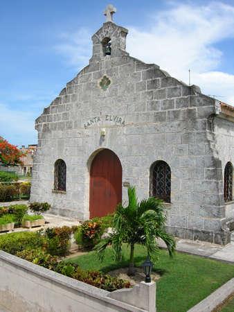 varadero: Santa Elvira church in Varadero, Cuba Stock Photo