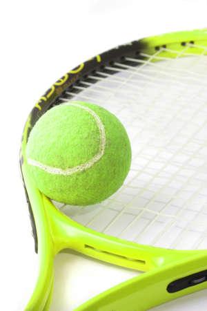 tennis ball and racquet Banco de Imagens - 1650367