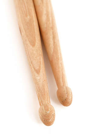 a close-up of wooden percussion drum sticks