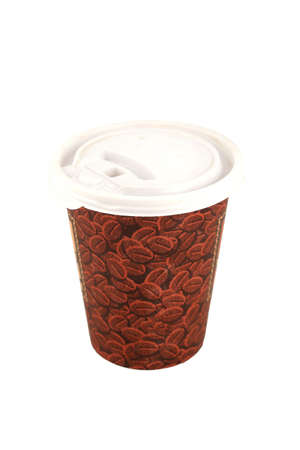 an isolated cup of coffee to go