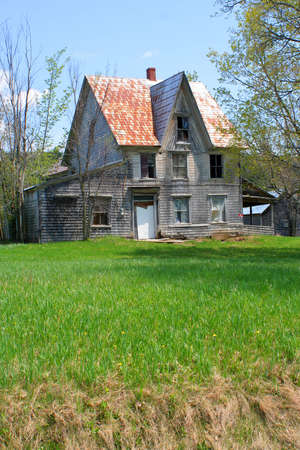 property: spooky, broken down, abandoned house in  a rural property