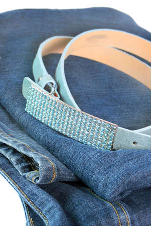 suede belt: sparkly, moda cintur�n de cuero con gamuza azul Rhinestone hebilla en un par de vaqueros