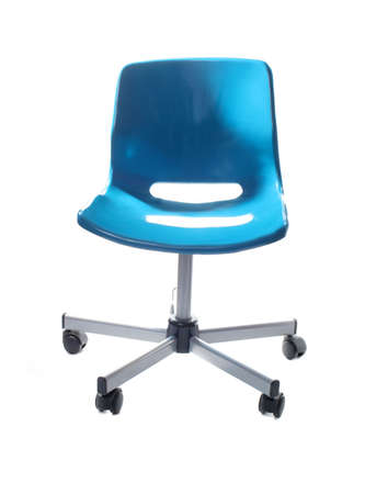 school or office desk chair with wheels