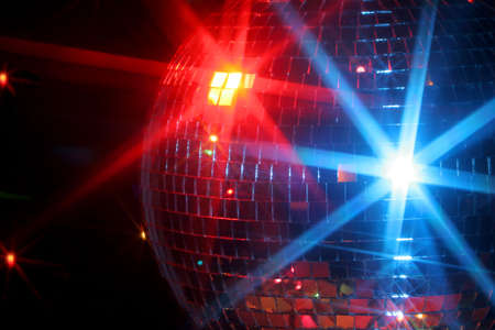 vibe: mirror disco ball giving off a party vibe at a discoteque