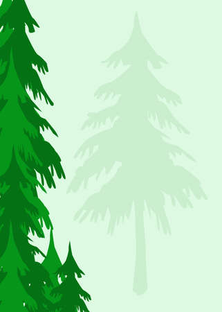 an evergreen trees background appropriate for stationary Banco de Imagens