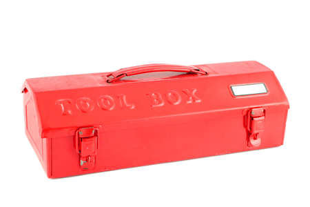 yourself: red tool box on a white background