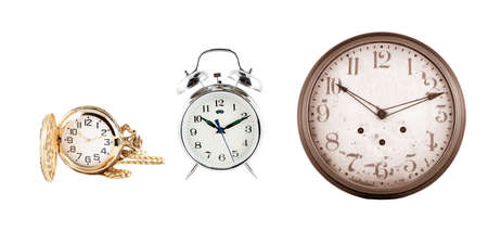 timepieces: different instruments of time, clocks and watches