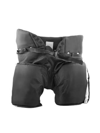 padding: professional protective hockey pads that go under the shorts protecting the legs and hips Stock Photo