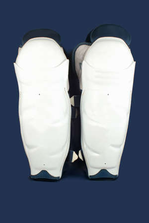protective: professional protective hockey shin padding protecting knees and shins