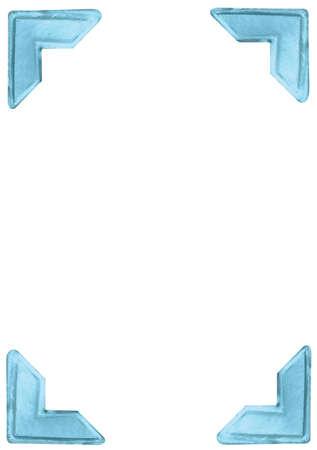 foto: mettalic blauw foto hoeken voor fotoalbums en scrapbooking