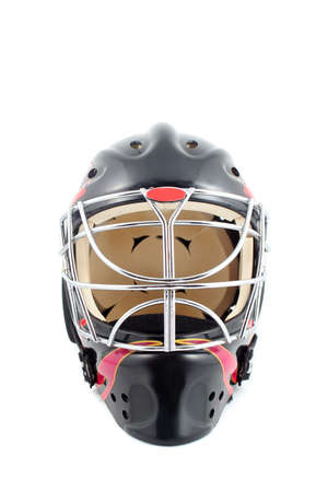 padding: black and red isolated hockey goalie mask