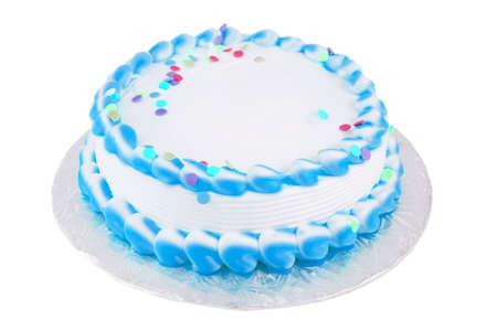 frosted blanco grote feestelijke taart voor elke gelegenheid zoals een verjaardag