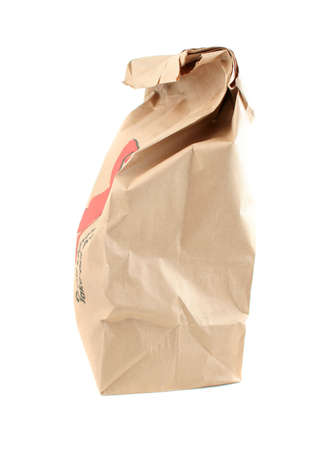 brown paper bag from a takeout food restaurant Stock Photo