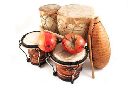 maracas: Latin rhythm percussion instruments like  on a white background