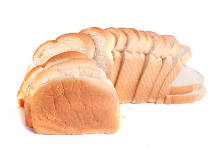 A loaf of baked white bread with golden crust 版權商用圖片