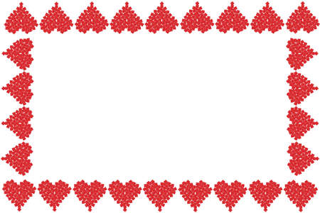 Gift boxes in the shape of red Valentine love hearts as a frame, or border, great for a greeting card Stok Fotoğraf