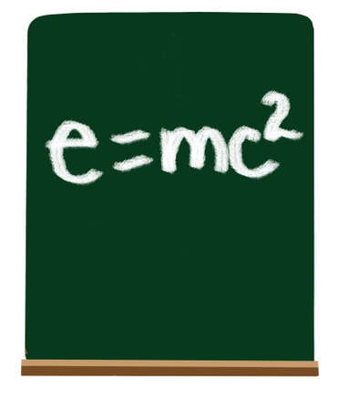 Formula of e=mc2 on school green chalkboard Stock Photo - 6196644