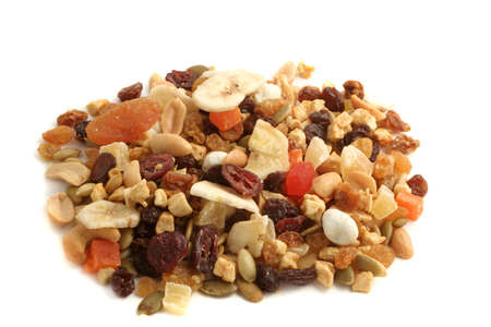 Delicious and healthy mixed dried fruit, nuts and seeds Stock Photo - 6291949