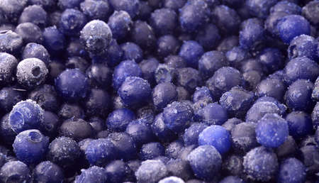 Frozen and healthy wild blueberries ready to make a smoothie Stock Photo