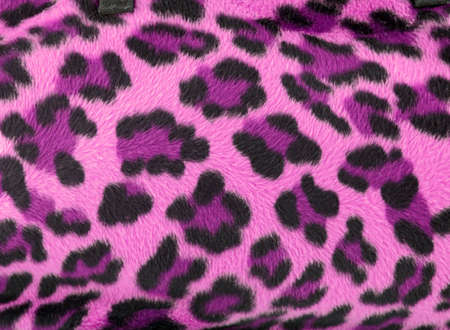 spotted fur: Pink and black faux fur leopard print backgound