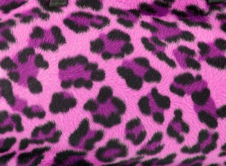 Roze en zwart faux fur leopard print achtergrondkleur