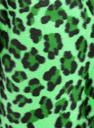 spotted fur: Green  and black camouflage faux fur leopard print backgound