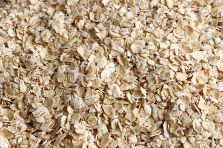 oatmeal: Plain healthy oatmeal great for a healthy food background Stock Photo