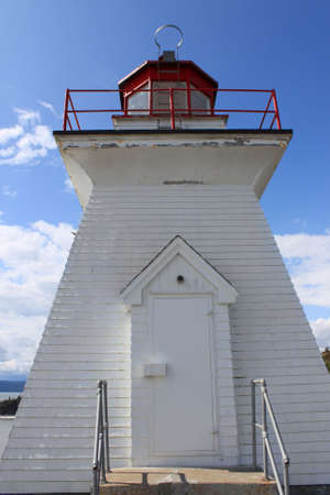 enrage: Lighthouse at Cape Enrage in New Brunswick, Canada