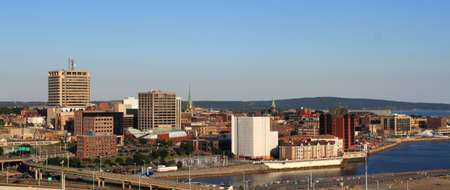 maritimes: City view of dowtown area of Saint John, New Brunswick, Canada