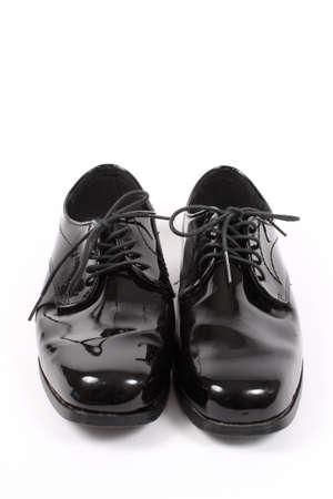 shiny black: Mens shiny lace up formal black shoes