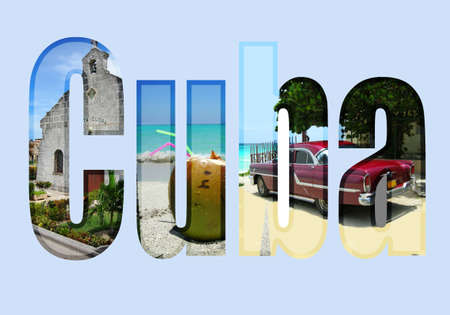 Cuba  type with different tourist areas attractions