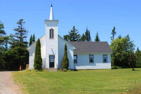 Church in rural New Brunswick, Canada .