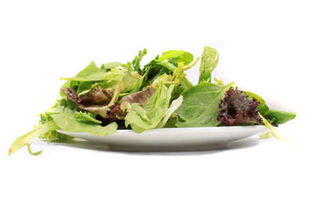 Plate full of green leafy vegetable variety