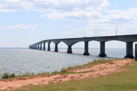 confederation: Confederation Bridge from Borden-Carleton, Prince Edward Island, in eastern Canada