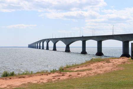 Confederation Bridge from Borden-Carleton, Prince Edward Island, in eastern Canada photo