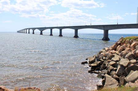 confederation: Confederation Bridge from Borden-Carleton, Prince Edward Island, in eastern Canada