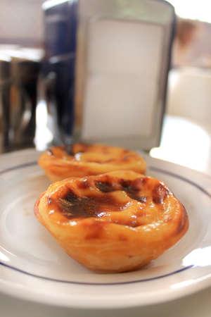 nata: Portuguese custard pastries called Pastel or Pasteis de Nata