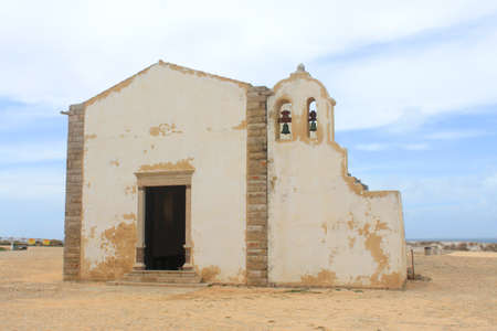 Simple chapel in Sagres, Algarve, Portugal called Nossa Senhora da Graca  版權商用圖片