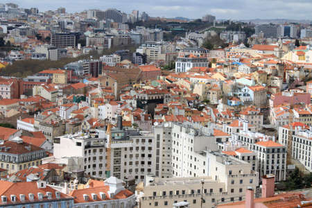 cluster house: Cluster of buildings of Lisbon city, Portugal