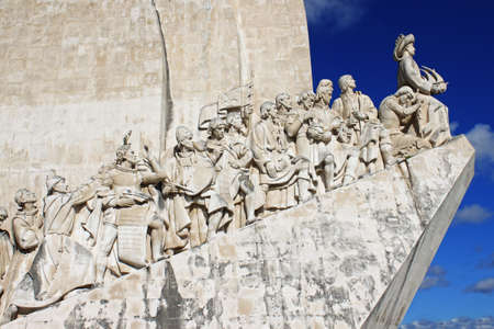 discoveries: The Monument to the Discoveries in Belem, Lisbon, Portugal Editorial