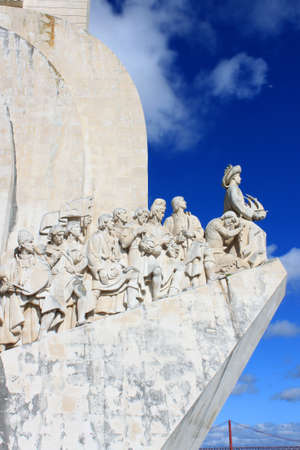 The Monument to the Discoveries in Belem, Lisbon, Portugal Editorial