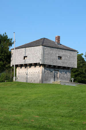 maritimes: Blockhouse located on the waterfront of St. Andrews by the Sea in the Maritimes, New Brunswick, Canada Editorial