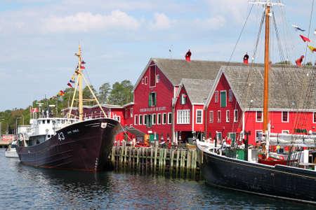 August 5, 2014, Lunenburg, Nova Scotia: View of the famous harbourfront of Lunenburg, Nova Scotia