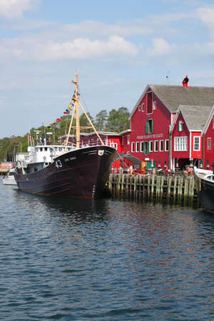 August 5. 2014, Lunenburg, Nova Scotia: View of the famous harborfront of Lunenburg, Nova Scotia