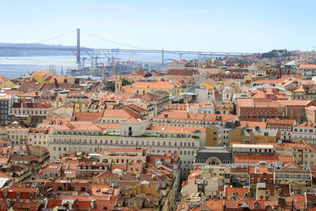 chiado: Cluster of buildings of Lisbon city, Portugal
