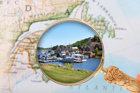 edward: Looking in on the Montague, Prince Edward Island, Canada Stock Photo